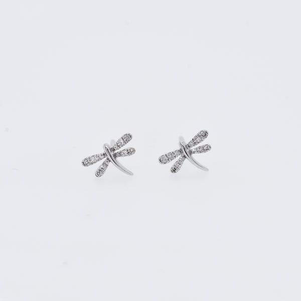 Pavé Diamond Dragonfly Studs