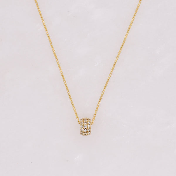 Diamond Rondelle Necklace