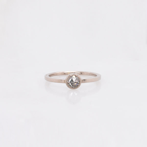 Rose Cut Nouveau Diamond Ring