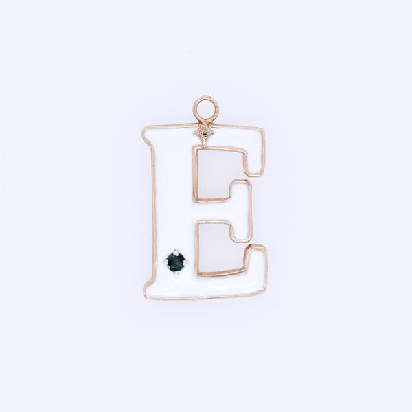 Old World Enamel Letter Charm