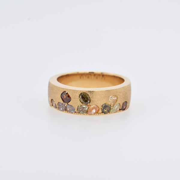 Sunset Scattered Champagne Diamond Ring