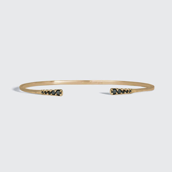 Gold Flamenco Diamond Cuff