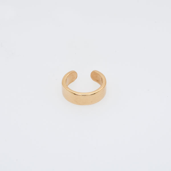 Flat Band Gold Ear Cuff