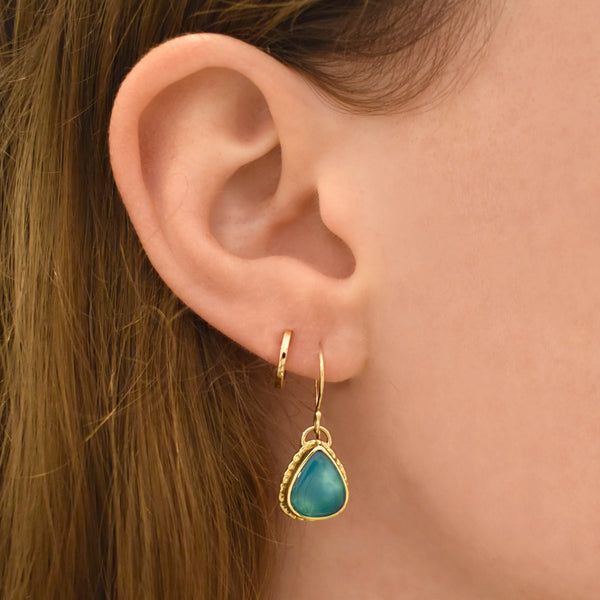 Gem Silica Dangle Earrings