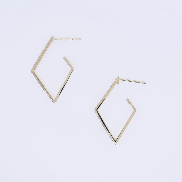Geometric Diamond Hoops