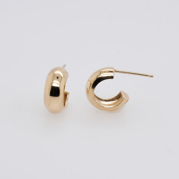 Thick Gold Huggie Hoops
