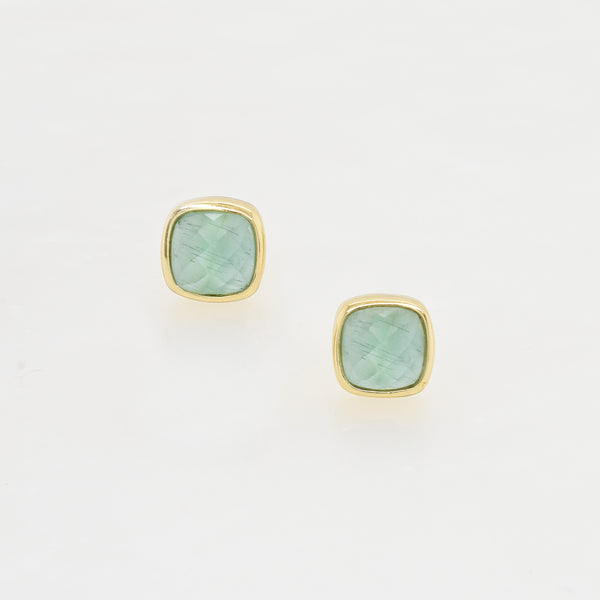 Light Blue Cats Eye Studs