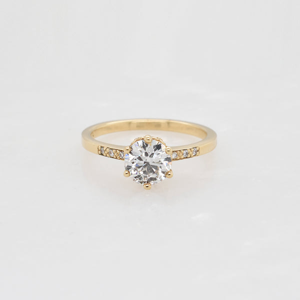 Yellow Gold Hazeline 0.90ct Diamond EngagementRing