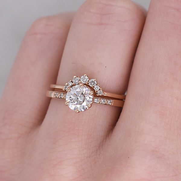 Rose Gold Hazeline .70ct Diamond EngagementRing