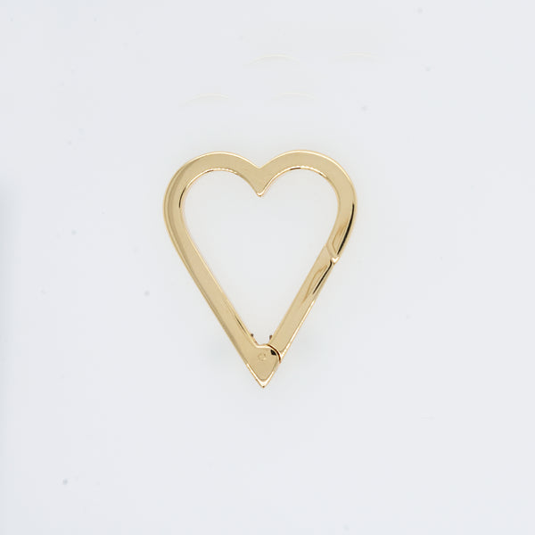 Heart Shaped Push Lock Charm Bail