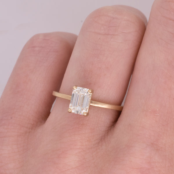 Imogen Emerald Cut 0.92ct Diamond Engagement Ring