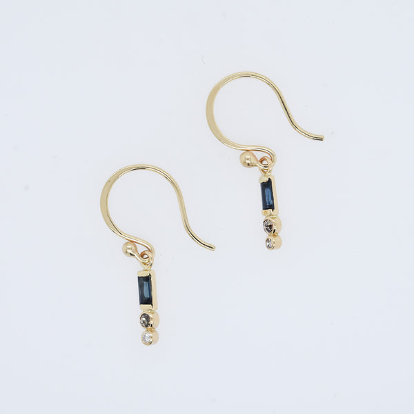 Sapphire and Diamond Dangles