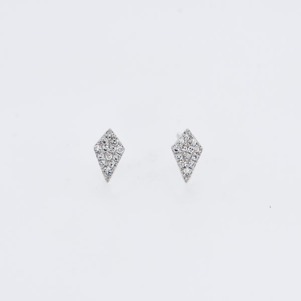 Pavé Diamond Kite Studs