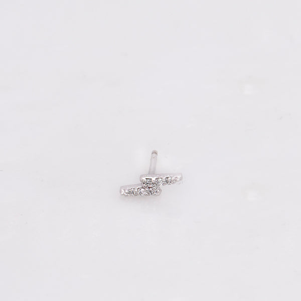 Diamond Lightning Bolt Stud