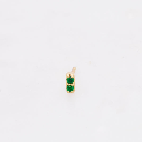 Emerald Bar Stud