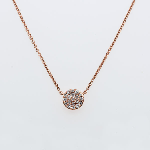 Full Moon Diamond Necklace in Yellow Gold