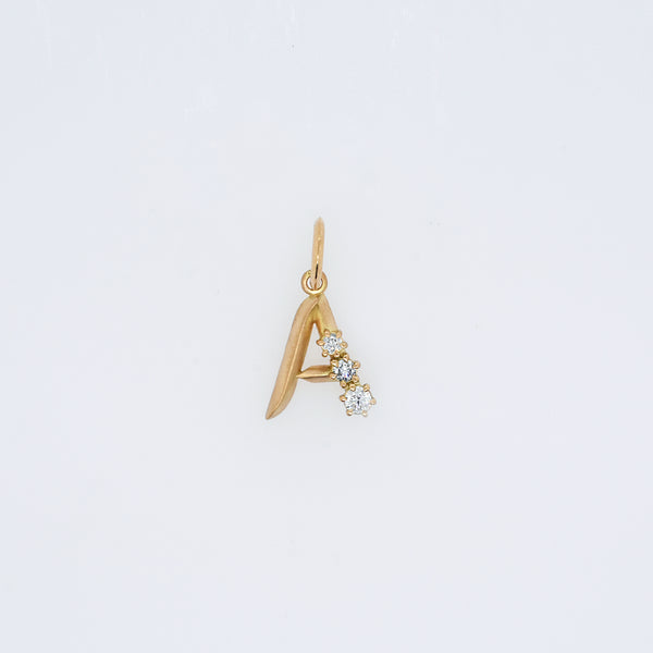 Three Diamond Letter Charm