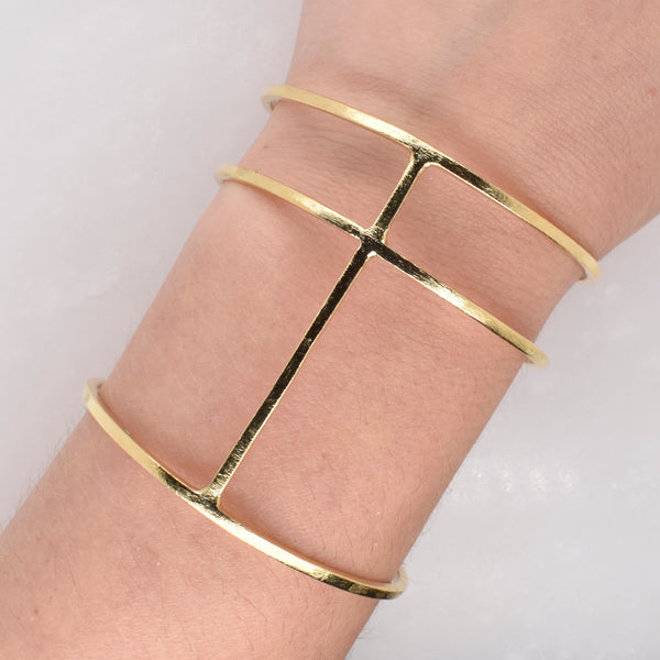Three Tier Statement Bracelet