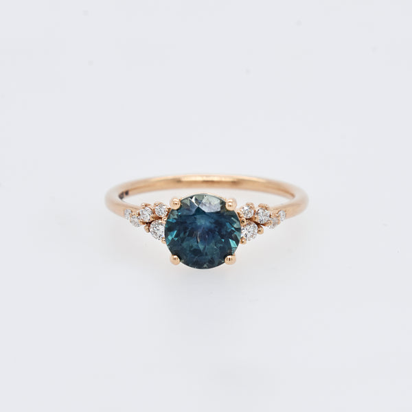 Finley Setting Featuring a 1.74ct Montana Sapphire