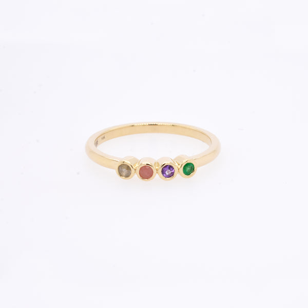 "4 Stone ""Love"" Stack Ring"