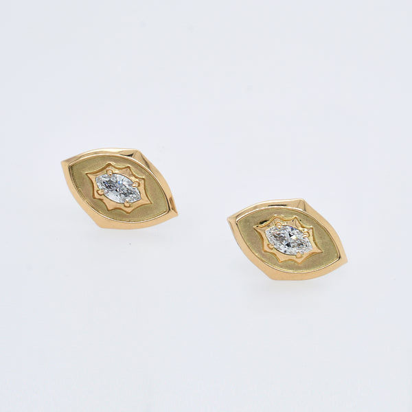 Maverick Diamond Button Studs