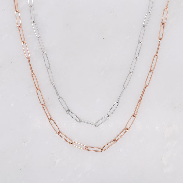 Medium Gold Paperclip Chain