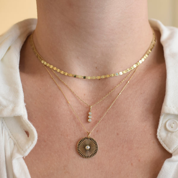 Sunbeam Medallion Necklace