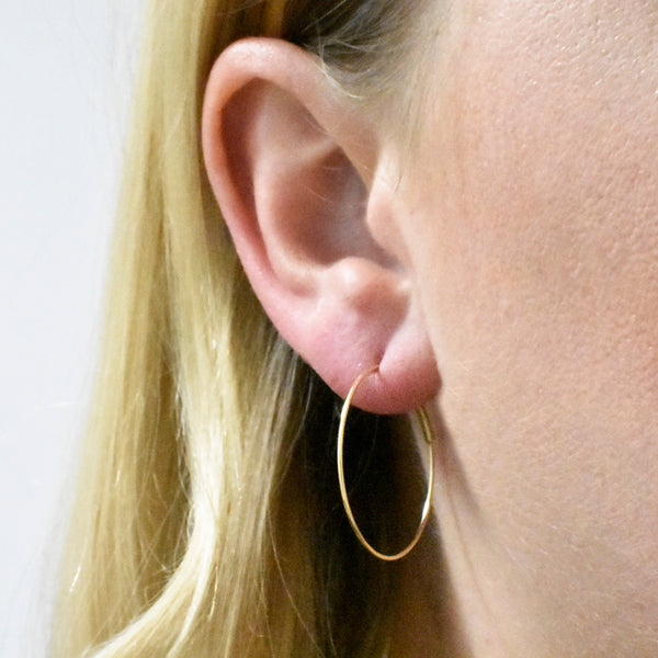 Small Endless Hoop Earring