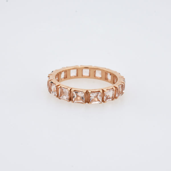 Princess Morganite Eternity Band