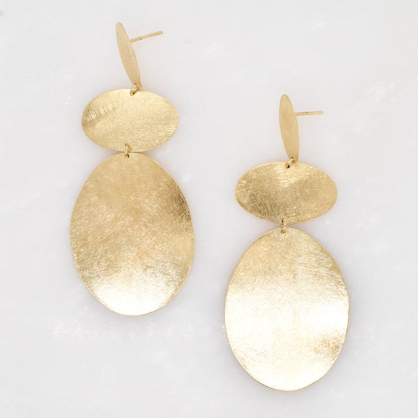 Cascading Oval Dangle Earrings