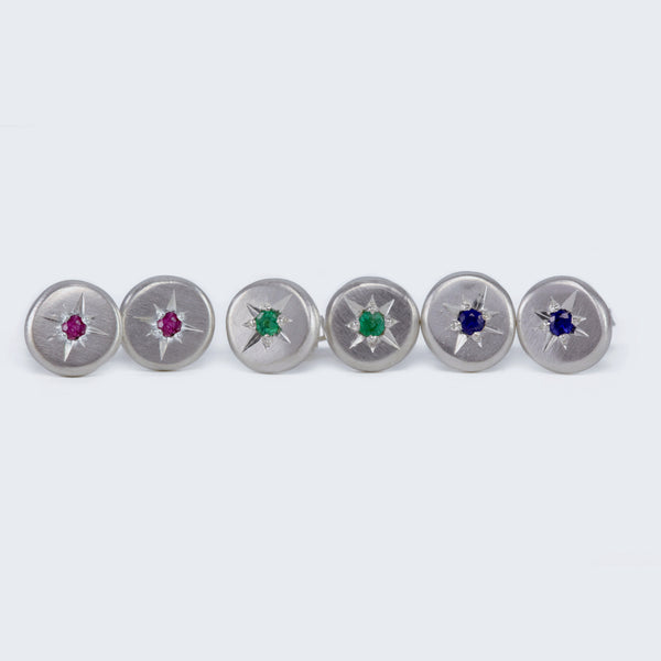 North Star Gemstone Studs