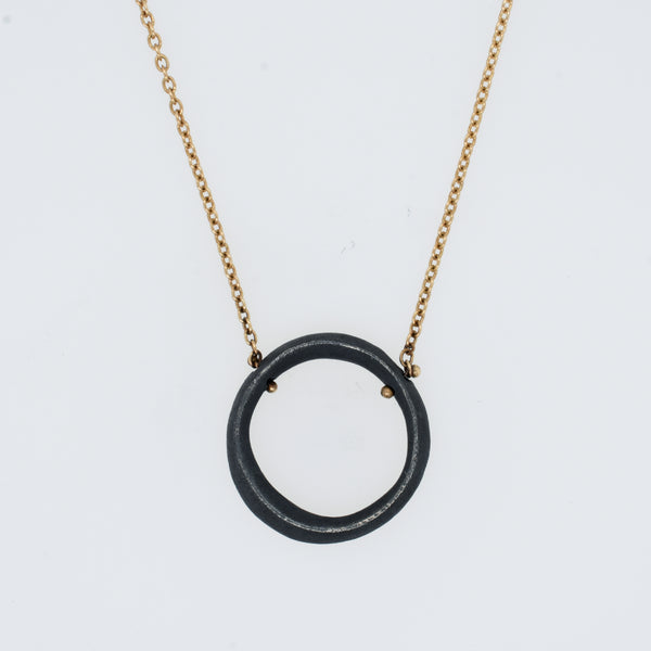 Organic Open Circle Necklace