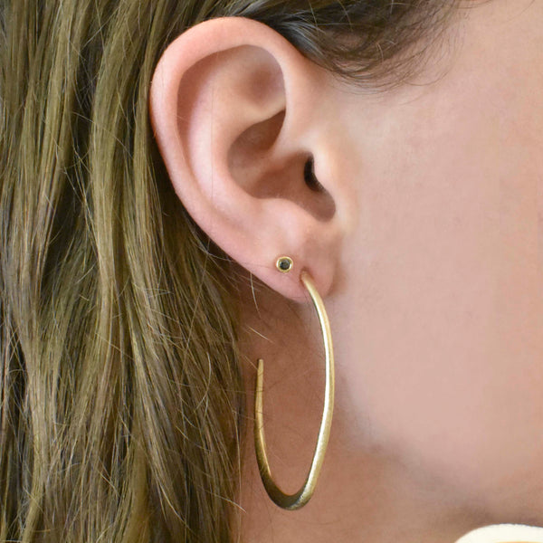 Gold Organic Oval Hoops