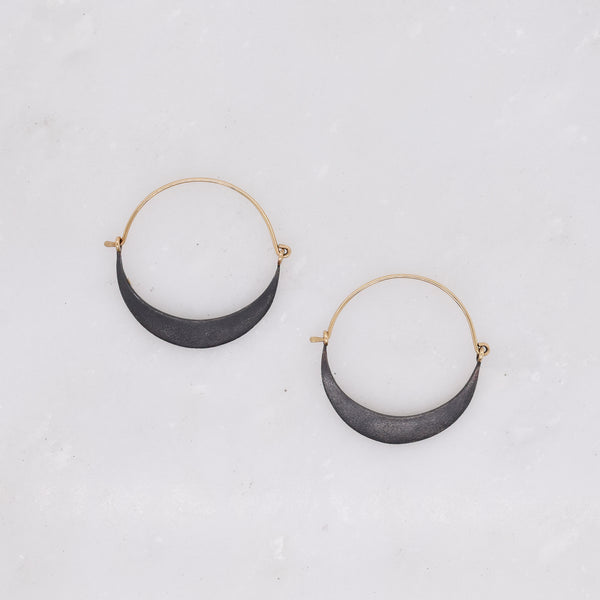 Refined Crescent Hoop Earrings