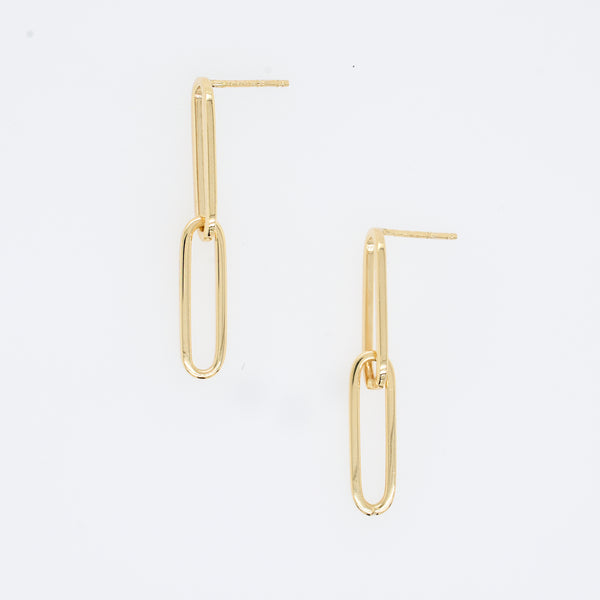 Paperclip Chain Earrings
