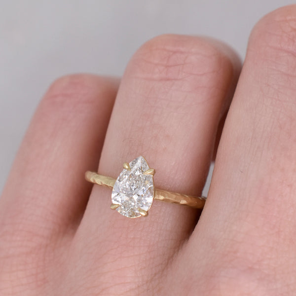 Scarlet Pear-Shaped 1.01ct Diamond Ring
