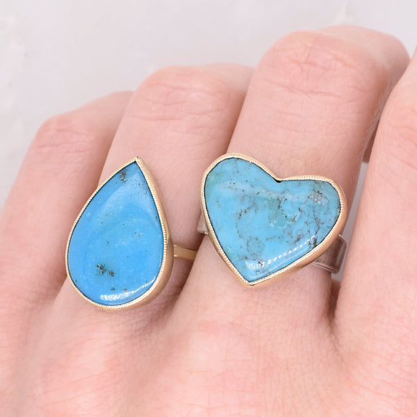 Pear Turquoise Ring