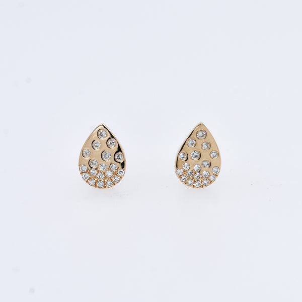 Galaxy Diamond Teardrop Studs