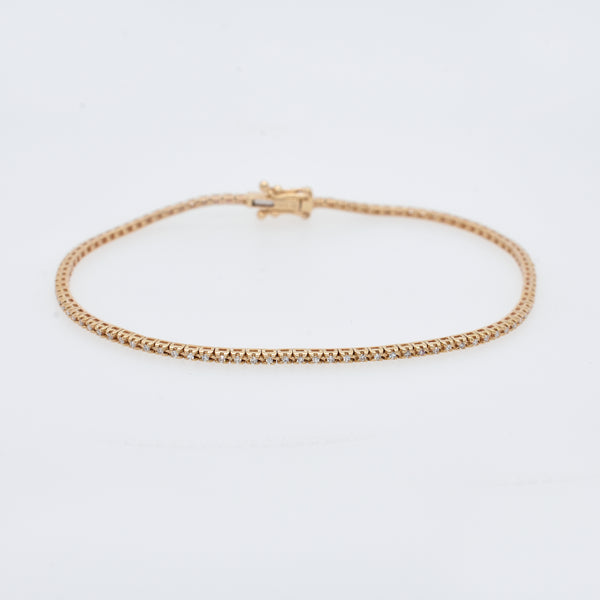 Petite White Diamond Tennis Bracelet