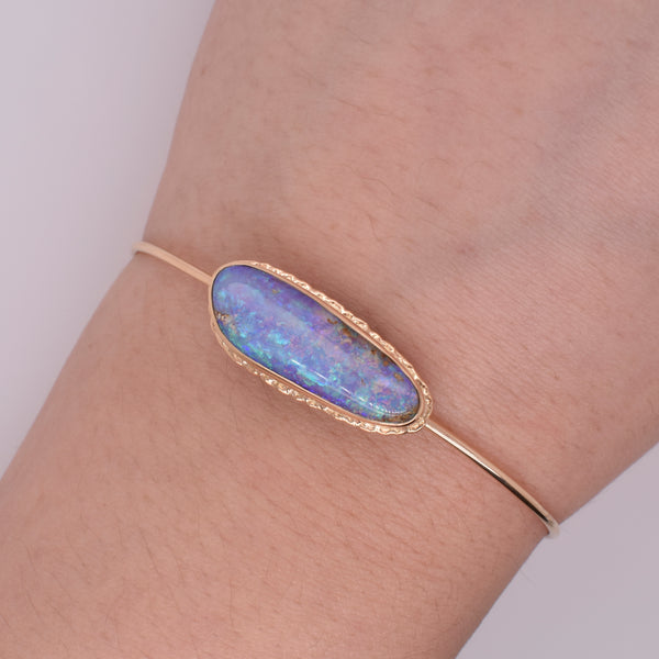 Opalized Wood Bracelet