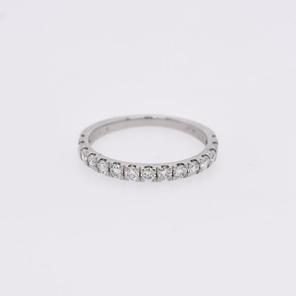Platinum 2mm Half Eternity Band