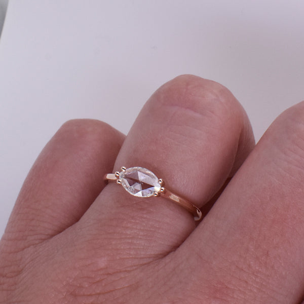 Marquise .55ct Rose-Cut Diamond Engagement Ring