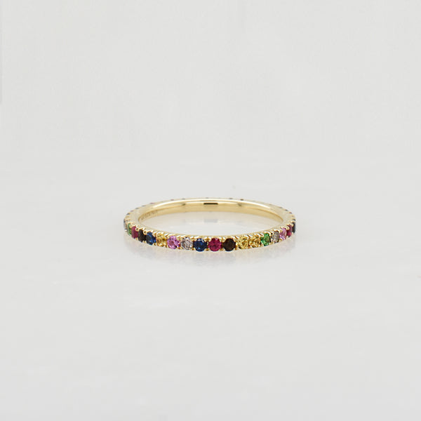 Rainbow Eternity Stack Ring