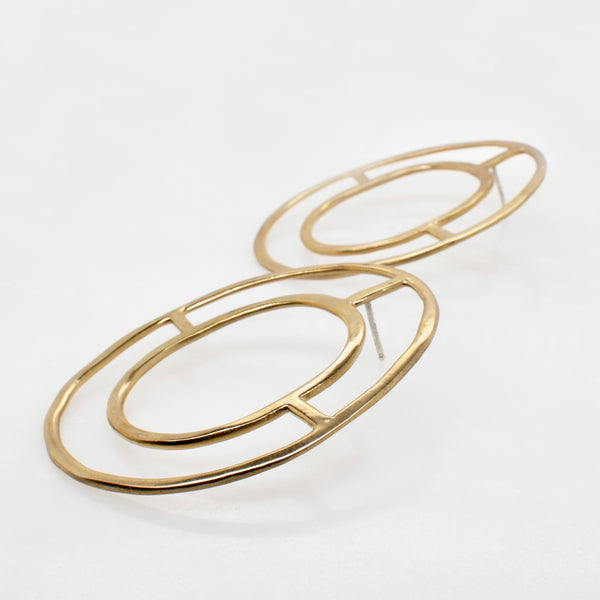 Concentric Circle Statement Studs