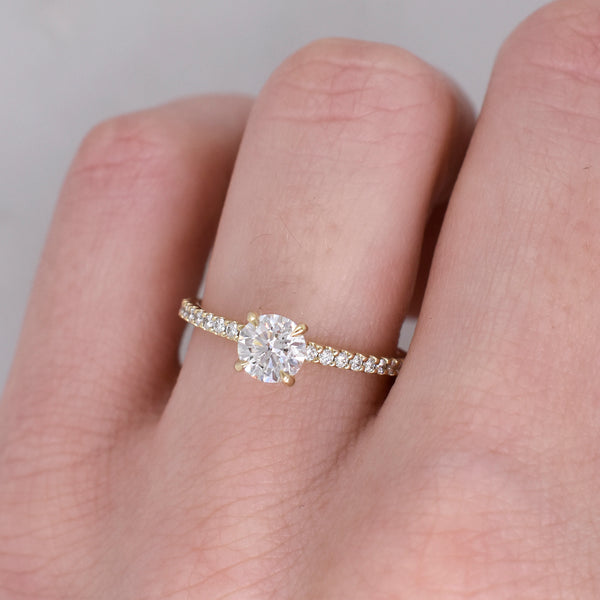 Libertine Diamond Engagement Ring with Diamond Accented Band