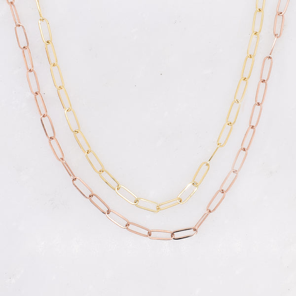 Small Gold Paperclip Chain