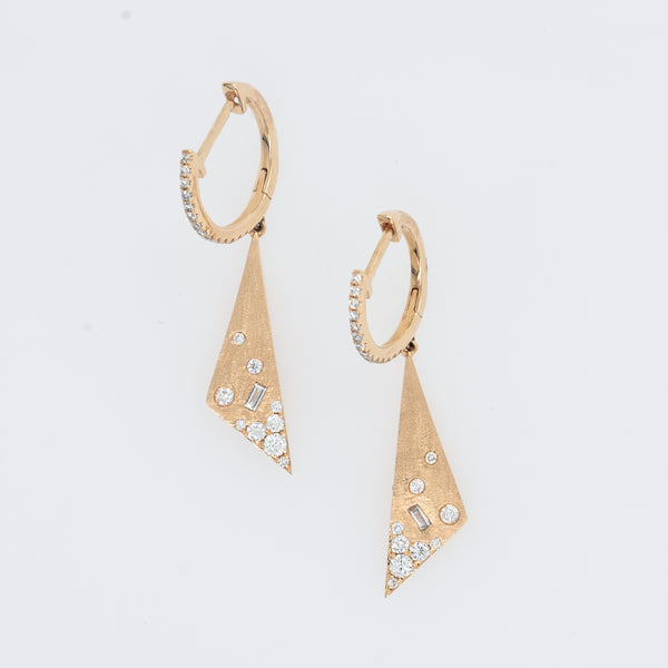 Galaxy Diamond Triangle Earrings