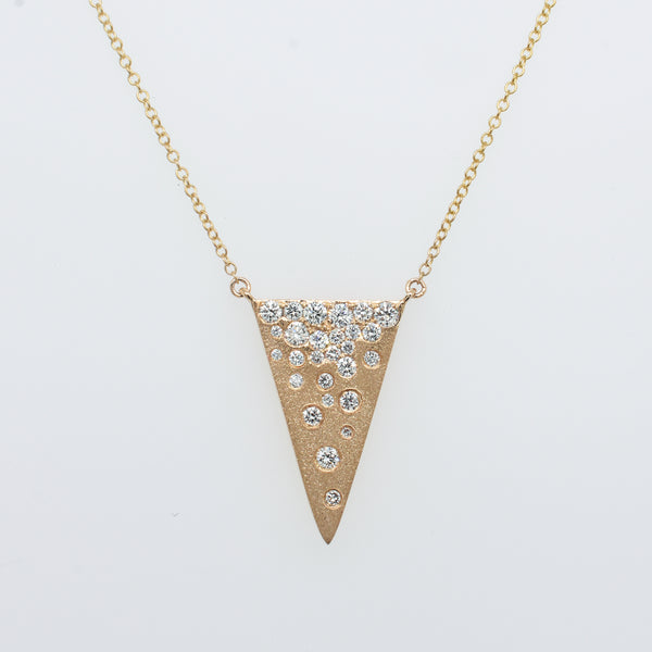 Galaxy Diamond Vertical Triangle Necklace