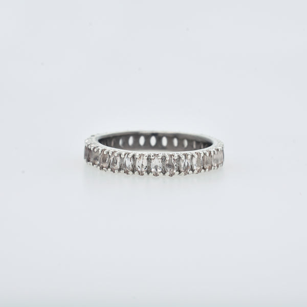 Marquise Morganite Eternity Band