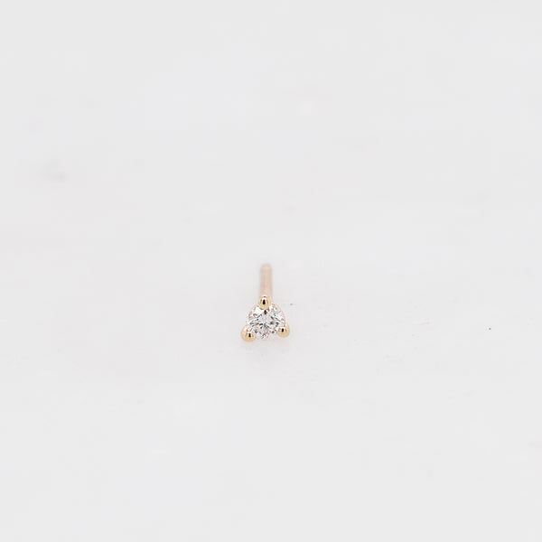 Martini White Diamond Piercing Stud